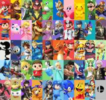 The Final Roster for Smash bros 4. by TDWT25