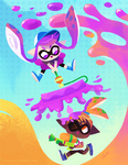 splatoon - inklings by tinysnail