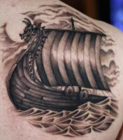 Viking ship by 6rimR3ap3r