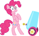 Pinkie with party cannon by MrCbleck