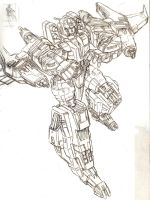 Galaxy Force Starscream sketch by LagunaL8