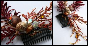 Firefish Couture Hair Comb by TheRealLittleMermaid