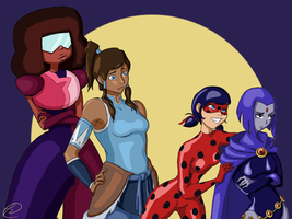 Crossover d'heroines by Loumaria2505