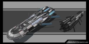 Cargo ship concept by DmitryEp18