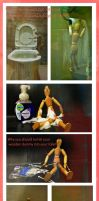 Why U should not let UR Wooden Dummy in2 UR Toilet by The-Quirky-Banana