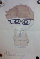 Chibi 10th. Doctor- Allons-y by TFgirlSam