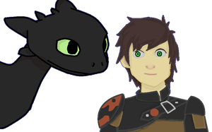 Toothless and Hiccup [MS paint] by ReBaka-Chan