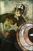 Captain America by CartoonCaveman