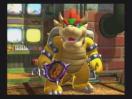 Bowser in Mario Power Tennis by PrincessKarinKoopa28