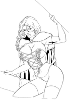 Emma Frost inks by kayzer