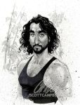 "LOST sketch ""Sayid"" by J-Scott-Campbell"