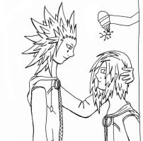 AkuZeku - mistle toe by fanfiction-fanatic