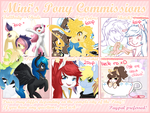 Pony Commission Info ~ Open by Minigini