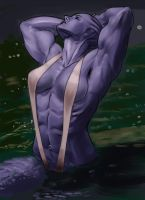 Asari Pinup for Lord Dorath by Higalack