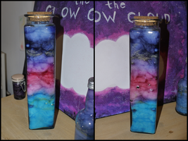 Galaxy in a Bottle by Rhiallom