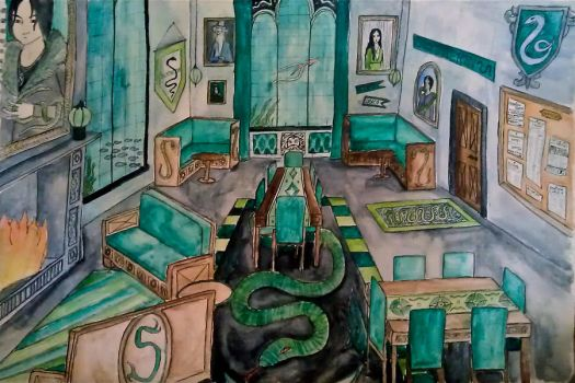 Slytherin Common Room by alwayskat27