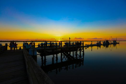 Wharf Life at Sunset by digitalHD