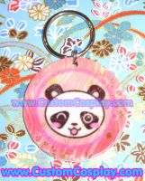Winking panda key ring by The-Cute-Storm