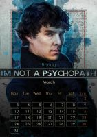 Geek Calendar 2014: March by Sceith-A