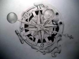 Steam-punk compass by Tattoo-Design