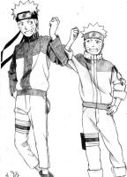 Naruto and Naruto by Sango94