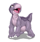Baby Littlefoot - Pixel Art Shaded by RockingScorpion