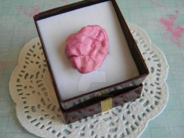 Fake Chewed Bubble Gum Ring-Polymer Clay by ThePetiteShop