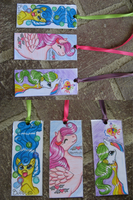 A Trio of MLP Bookmarks by Bumblesweet