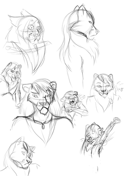 Daily Sketches: 4/10/17 (3/3) by WhenWolvesCryOut