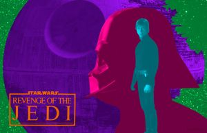 Revenge Of The Jedi Day Glo by Hartter