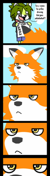 --Orange Fox is NOT AMUSED-- by megawolf77