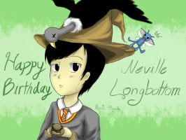 [HP] HBD Neville Longbottom [colored] by Music-Piyada