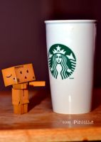 Danbo and Coffee by bullethead321