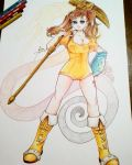 Traditional A3 Commission - Diane (SDS) by DestinySword