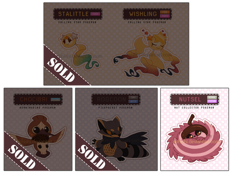 FAKEMON ADOPTABLES AUCTION [CLOSED] by Aishishi