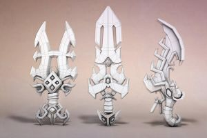 alchemic weapon modeling stage by ouidart