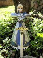 Saber papercraft (front view) by BRSpidey
