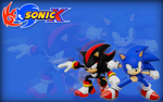 Sonic X And Shadow Wallpaper by Nibroc-Rock