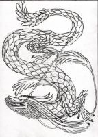 Dragon tattoo design by LadyFromEast