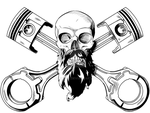 Commission - Bearded Skull by KingVego