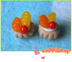 Orange lemon mini pastry by coffishop