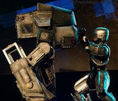 Robocop and ED-209 Replica Costumes by AndreaStarchild