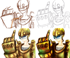 Blitz as a person? WIP by Jana-Healer