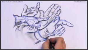 Learn how to draw hand positions 019 by drawingcourse