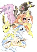Eeveelution Cuteness by jackstar93
