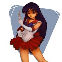 Sailor Mars by shesoliloquy