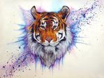 Acrylic Tiger by kurawr