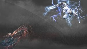 Wallaper Zed Vs Nocturne by zox33