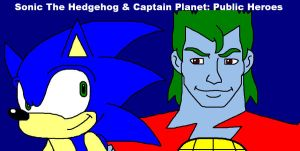Sonic and Captain Planet: Public Heroes by ian2x4