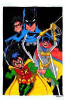 The Bat-Family... color by misfitcorner